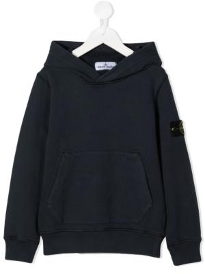 Stone Island felpa con cappuccio sweater hooded 731661640 patch applicazione_blu_1