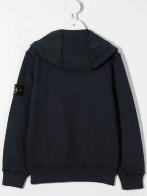 Stone Island felpa con cappuccio sweater hooded 731661640 patch applicazione_blu_2