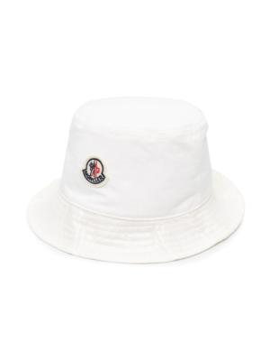 MONCLER G19513B70900 Cappello pescatora bucket hat white bianco
