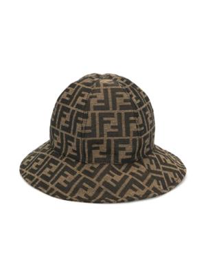 cappello con monogramma FF