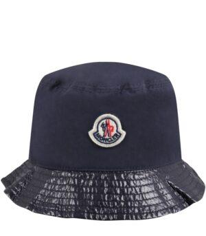 moncler-kids-cappello-blu-per-bambini