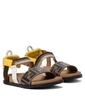 sandali con fascia gialla FF