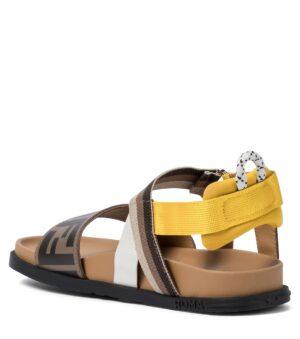 sandali con fascia gialla FF2