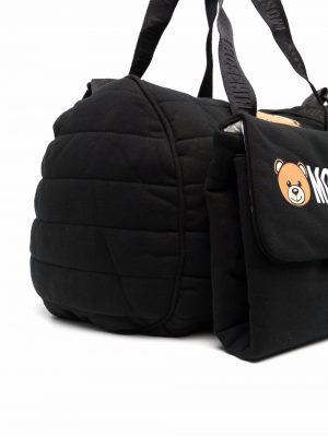 MOSCHINO BABY CHANGING BAG WITH MAT MUX03P LCA26 60100 BLACK 2