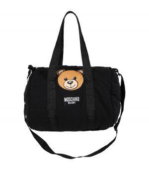 MOSCHINO BABY CHANGING BAG WITH MAT MUX03P LCA26 60100 BLACK