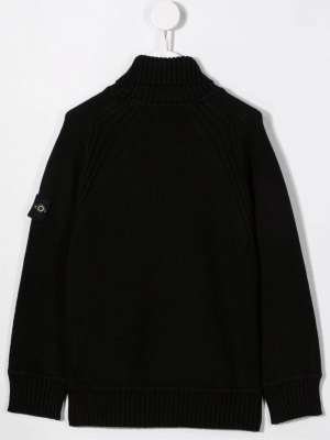 Stone Island Knitted Rollneck MO7516504A2 Black 2