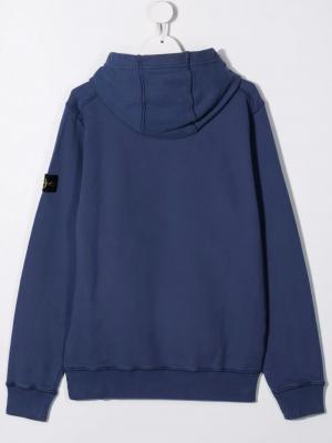 Stone Island Sweatshirt with hood MO751661640 V0020 Blue 2
